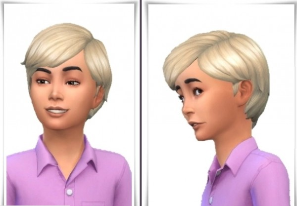 Birksches sims blog: Mid Swept Kids Hair for Sims 4