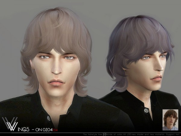 The Sims Resource: WINGS ON0204 hair for Sims 4