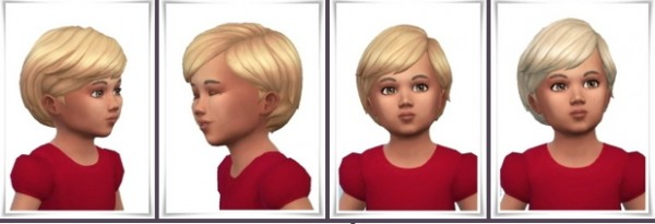 Birksches sims blog: Mid Swept Toddler Hair for Sims 4