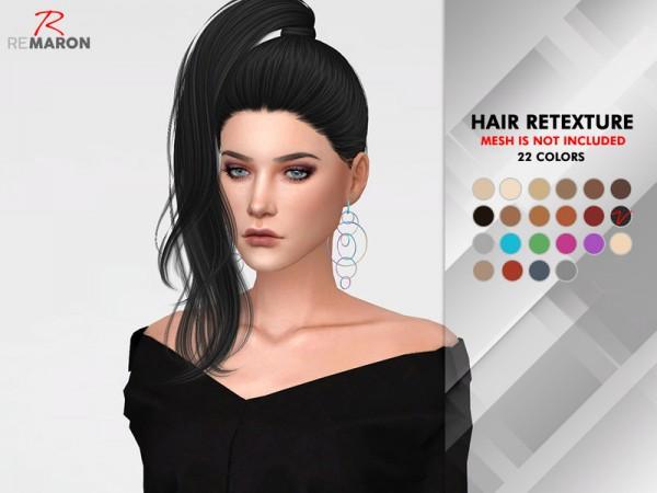 The Sims Resource: Nightcrawler`s Divine hair retextured by Remaron for Sims 4
