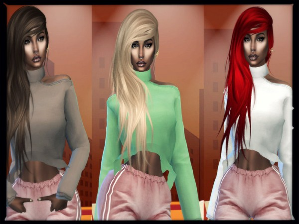 The Sims Resource: Vanity Hair Recolored by Teenageeaglerunner for Sims 4