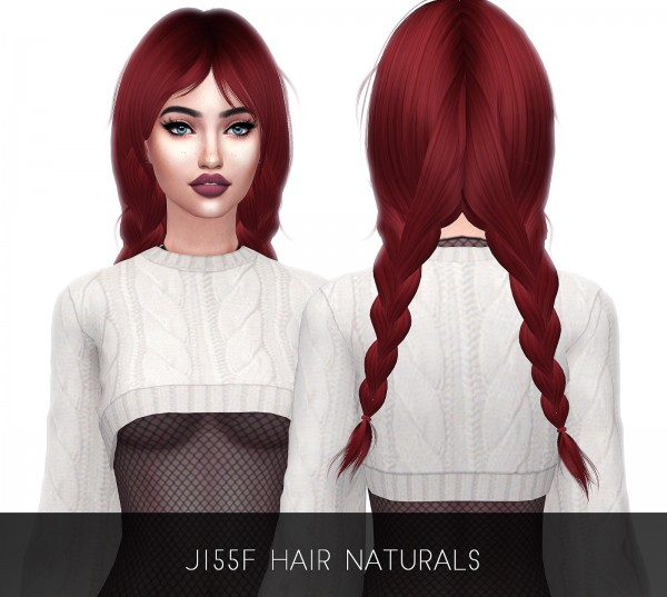Kenzar Sims: NewSea`s J115 Hair Naturals Retextured for Sims 4
