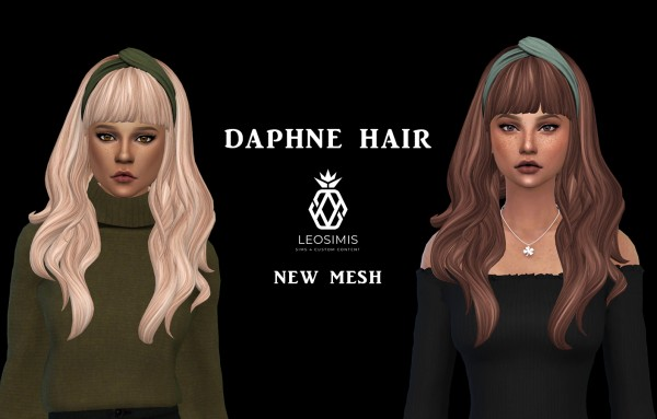 Leo 4 Sims: Daphne Hair for Sims 4