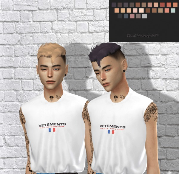SoulEvans997: Wings ON0125 hair retextured for Sims 4