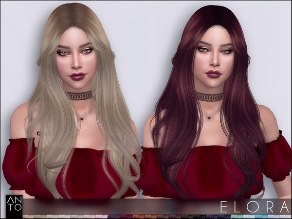 The Sims Resource: Elora hair by Anto for Sims 4