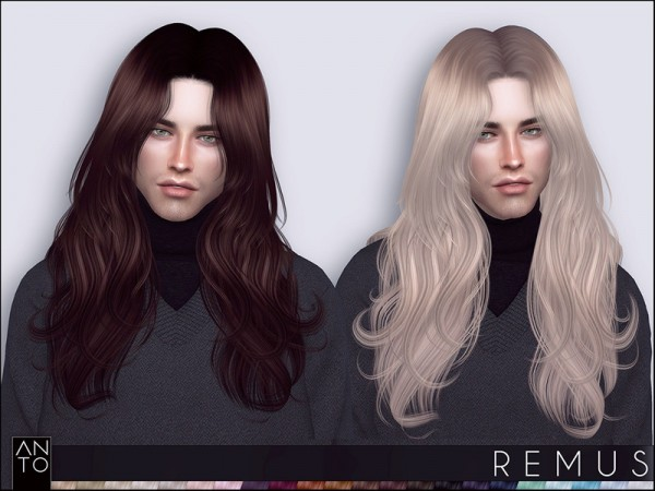 The Sims Resource: Remus hair by Anto for Sims 4