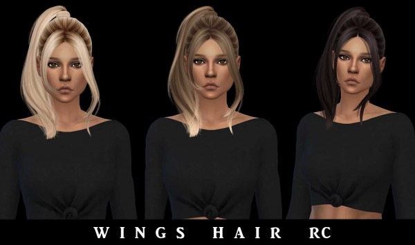 Leo 4 Sims: Wings Hair Recolored for Sims 4
