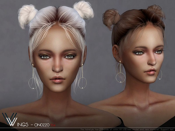 Birksches sims blog: WINGS ON0220 Hair for Sims 4