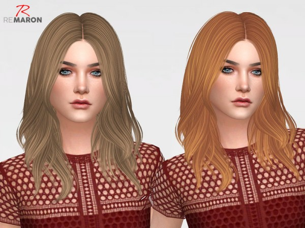 The Sims Resource: Turn It Up Hair Retextured by remaron for Sims 4