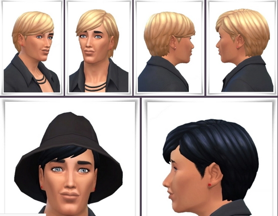 Birksches sims blog: Marvin Hair short for Sims 4