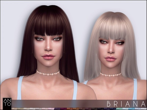 The Sims Resource: Briana Hair by Anto for Sims 4