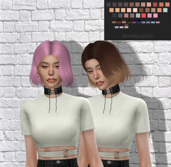 SoulEvans997: Tsminh`s Lee hair retextured for Sims 4