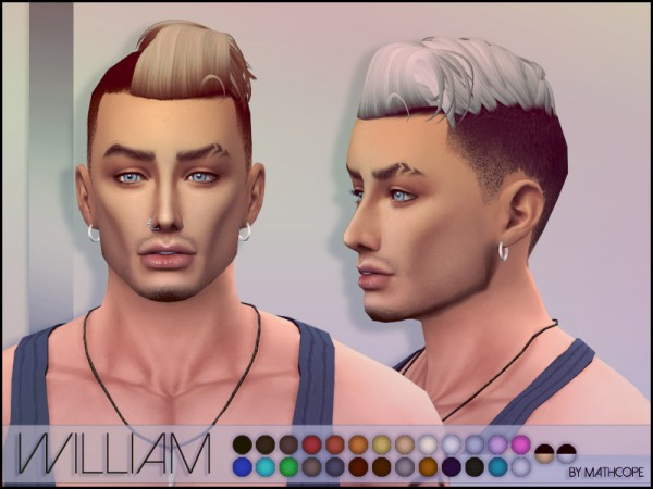 The Sims Resource: William Hair by Mathcope for Sims 4