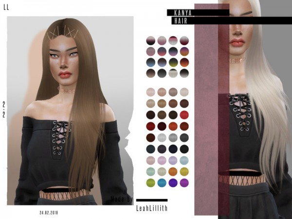 The Sims Resource: Kanya Hair by Leah Lillith for Sims 4