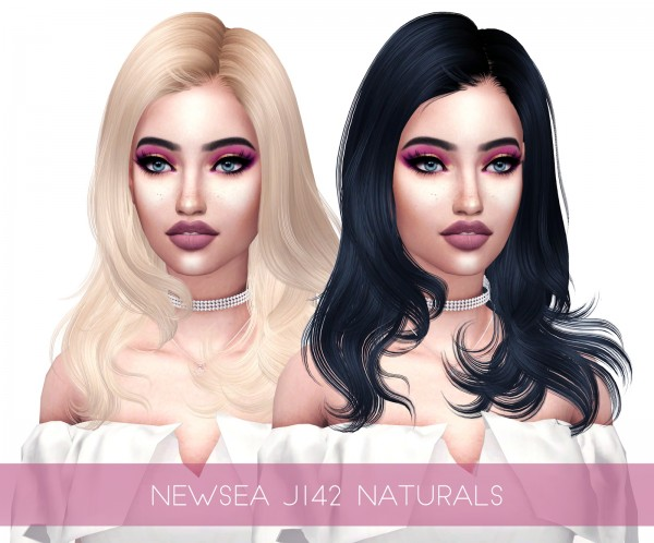 Kenzar Sims: Newsea`s J142 Naturals Hair Retextured for Sims 4
