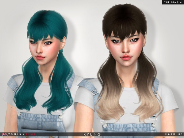 The Sims Resource: Kyung Hair 81 by TsminhSims for Sims 4
