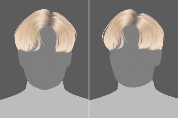 Effie: Blue Stream Hair for Sims 4