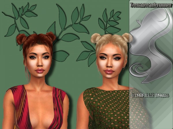 The Sims Resource: WINGS HAIR ON0220 Recolored by Teenageeaglerunner for Sims 4