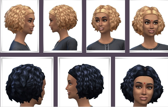 Birksches sims blog: Marina Curls for Sims 4