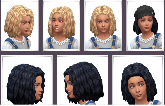 Birksches sims blog: Marla Curls hair retextured for Sims 4