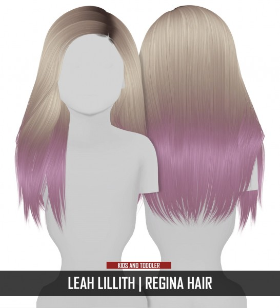 Coupure Electrique: LeahLillith`s Regina hair retextured   kids and toddlers version for Sims 4