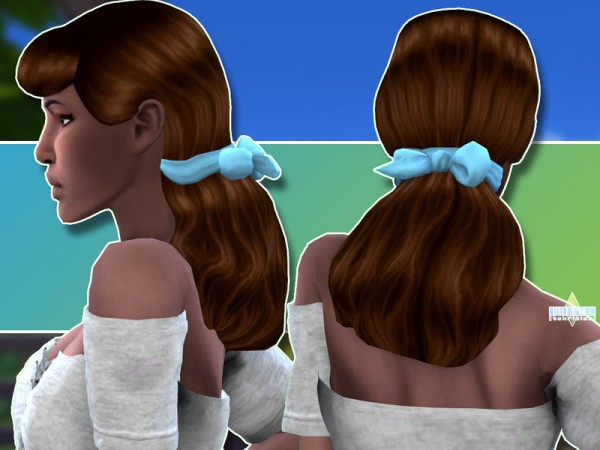 The Sims Resource: Cinderella hair reextured by TekriSims for Sims 4