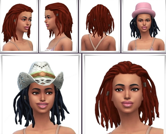 Birksches sims blog: Lauries Shorter Dreads Hair for Sims 4