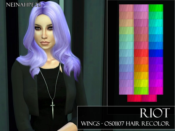 The Sims Resource: Riot   WINGS OS01107 Hair Recolored by neinahpets for Sims 4