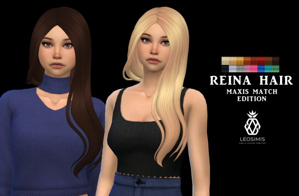 Leo 4 Sims: Reina Hair MM for Sims 4
