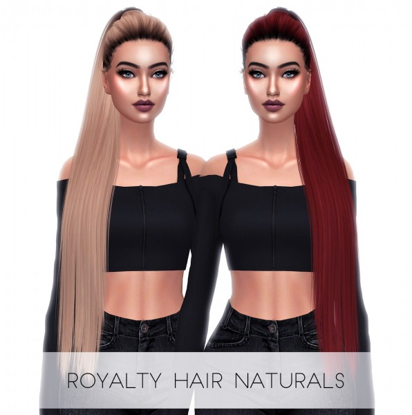Kenzar Sims: Royalty Hair Naturals   Dark Roots for Sims 4