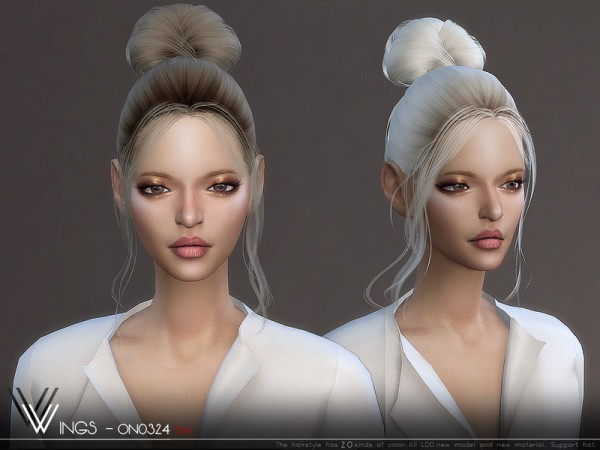 The Sims Resource: WINGS ON0324 hair for Sims 4