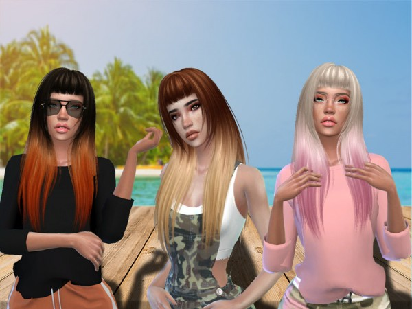 The Sims Resource: Rebel Hair Recolored by Teenageeaglerunner for Sims 4