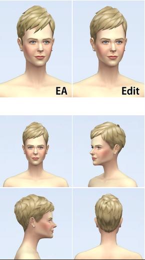 Rusty Nail: Short Neat Edit Hair for Sims 4
