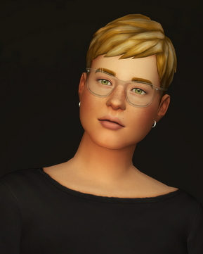 Rusty Nail: Short Hair Gray retextured for Sims 4
