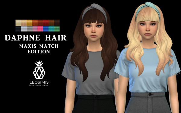 Leo 4 Sims: Daphne Hair MM for Sims 4