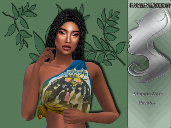 The Sims Resource: Kimmie Hair Recolor Braids by Teenageeaglerunner for Sims 4
