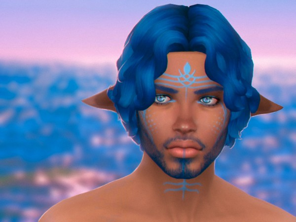 The Sims Resource: Leo hair by WistfulCastle for Sims 4