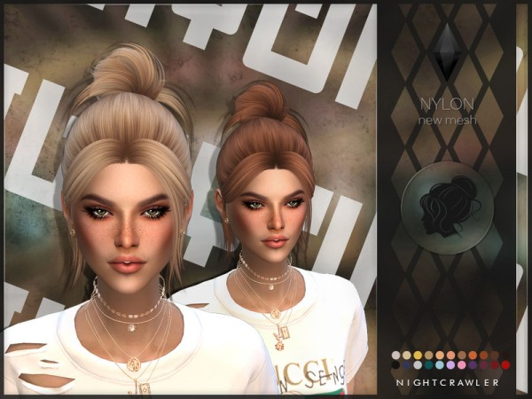 The Sims Resource: Nylon Hair by Nightcrawler Sims for Sims 4