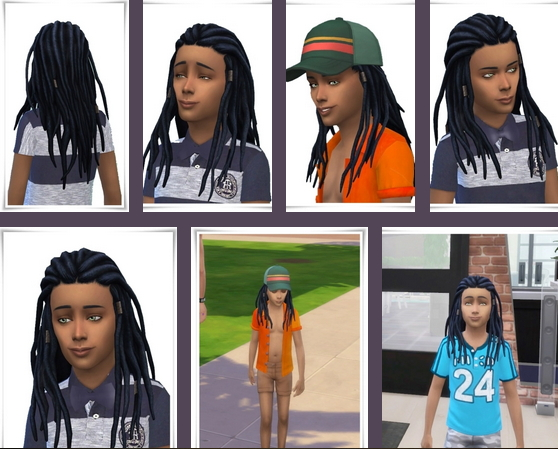 Birksches sims blog: Kids Dread Locks for Sims 4