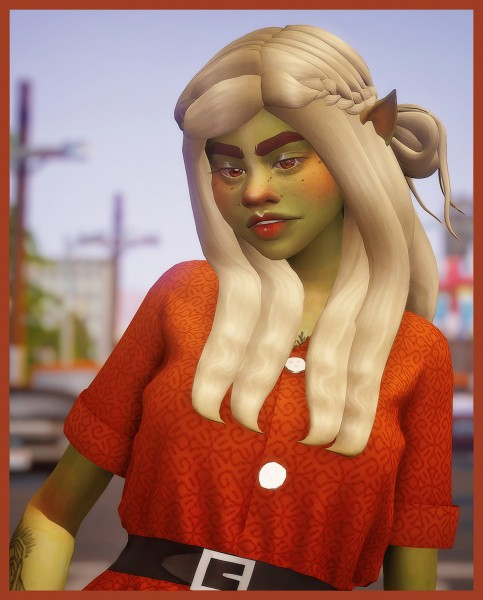 Cowplant Pizza: Cassie hairs recoloured for Sims 4