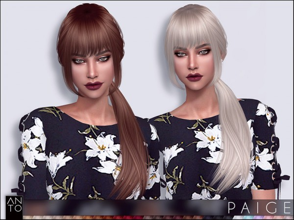 The Sims Resource: Paige Hair by Anto for Sims 4