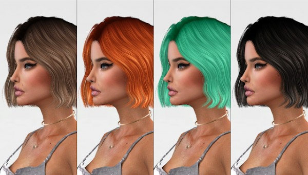 Red Head Sims: Simplicaty`s Aurora Hair Retextured for Sims 4