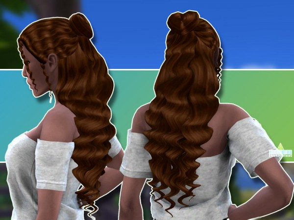The Sims Resource: Isobel Hair by TekriSims for Sims 4
