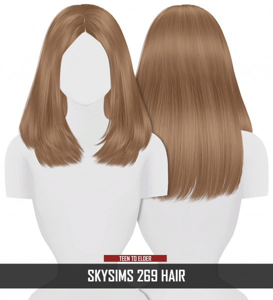 Coupure Electrique: Skysims 269 hair retextured for Sims 4