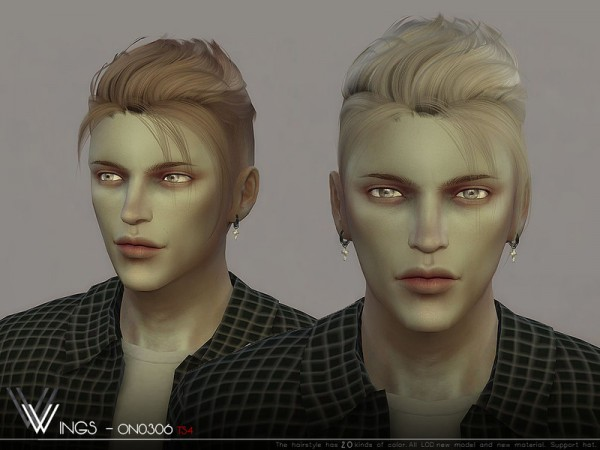 The Sims Resource: WINGS ON0306 Hair for Sims 4