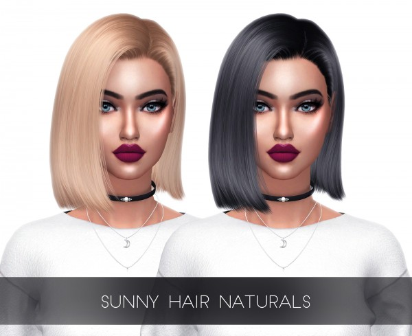 Kenzar Sims: S`Club`s Sunny Hair Naturals Recolored for Sims 4