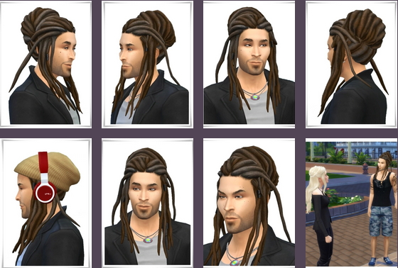 Birksches sims blog: UpDo Dread Locks Hair male for Sims 4