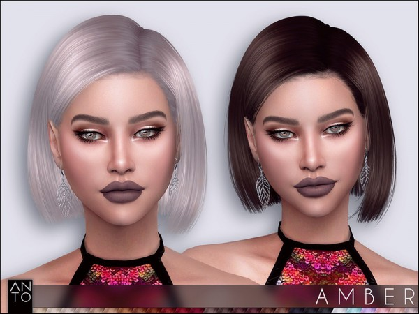 The Sims Resource: Amber Hair by Anto for Sims 4