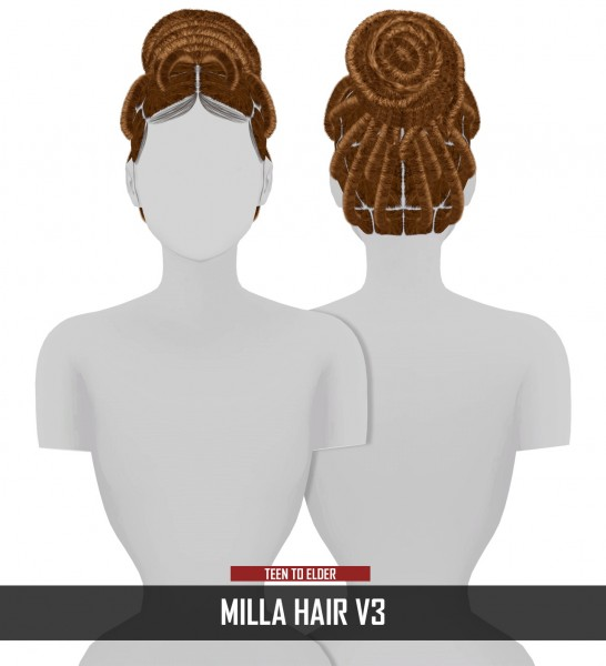 Coupure Electrique: Milla Hair for Sims 4