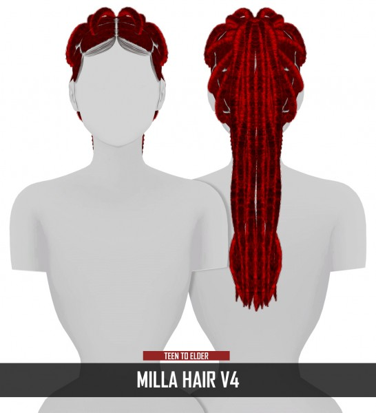 Coupure Electrique: Milla Hair for Sims 4